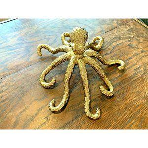 Bright Gold Octopus Beach House Table Decor